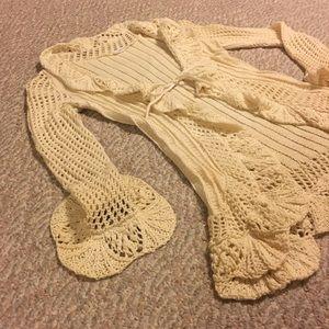 Cream duster sweater